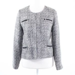 Black white textured  SOFT SURROUNDINGS  jacket XS